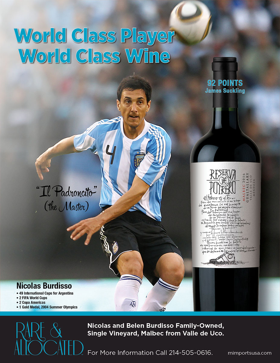 World Class Player. World Class Wine.